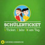 Schülerticket - 1 Ticket. 1 Jahr. 1€ am Tag.