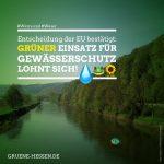 Entscheidung der EU bestätigt: GRÜNER Einsatz für Gewässerschutz lohnt sich!