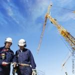 Industrie, Bau, Kran, Baustelle