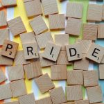 Das Wort Pride als Scrabble.