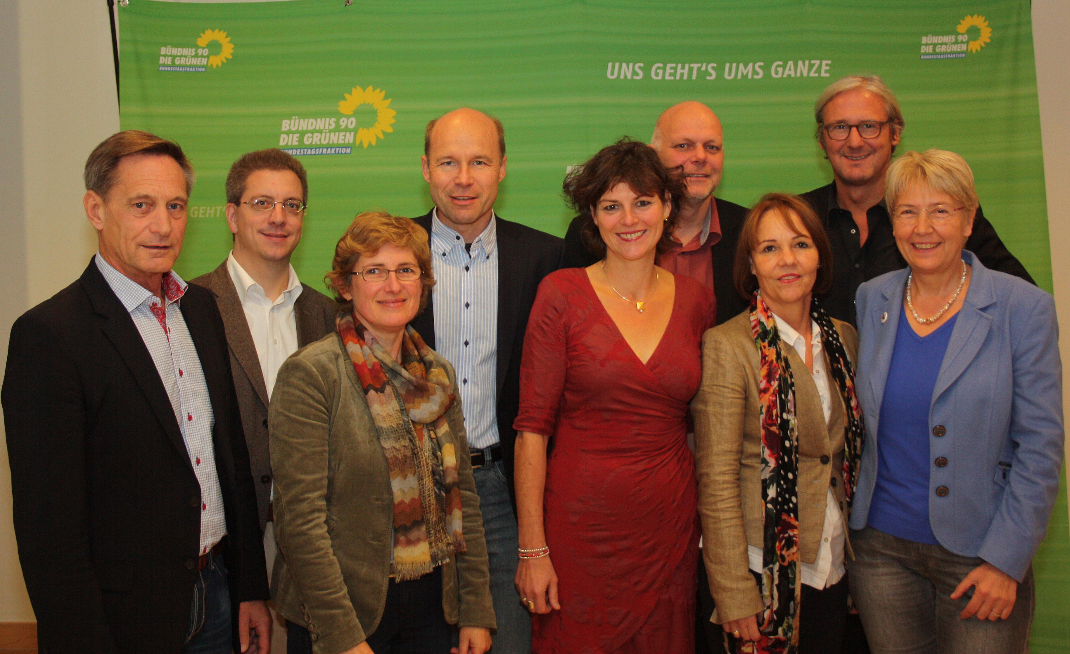 GRÜNE Dezernentinnen und Dezernenten mit MdB Birtta Hasselmann
