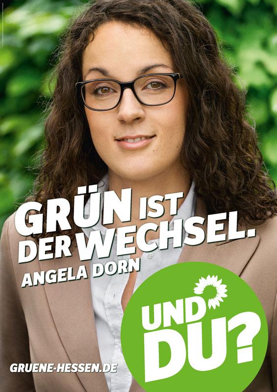 GRÜN ist der Wechsel. Angela Dorn