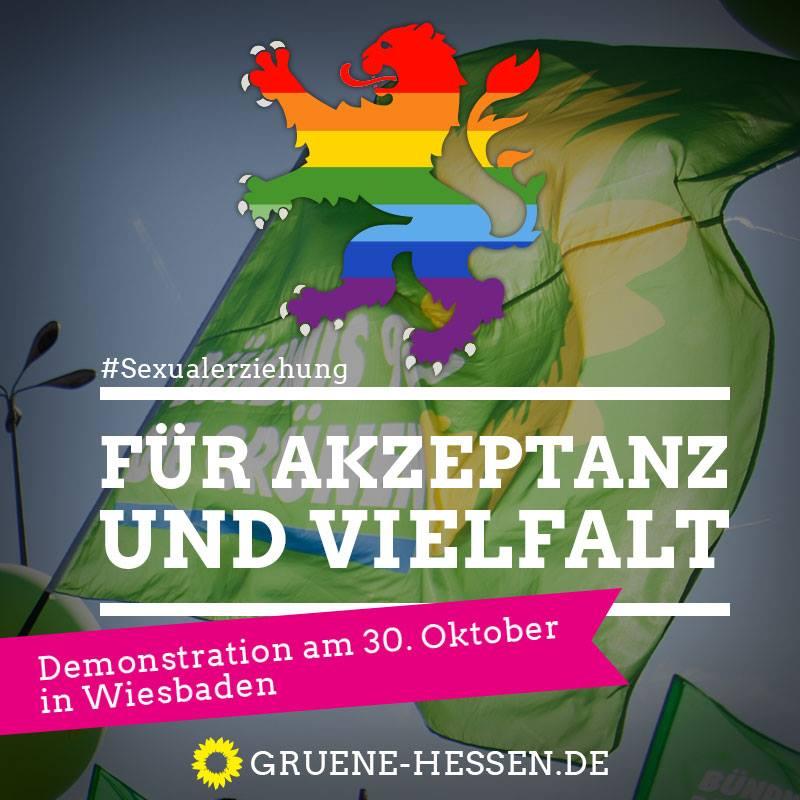 #Sexualerziehung - für Akzeptanz und Vielfalt - Demo am 30. Oktober in Wiesbaden