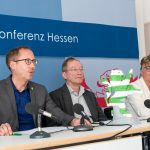 Pressekonferenz zum Zukunftskongress - Kai Klose, Jochen Ruoff und Daniela Wagner