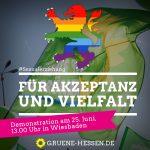 Für Akzeptanz und Vielfalt - Demo am 25. Juni, 13.00 Uhr in Wiesbaden