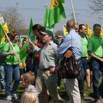 Demonstration in Biblis