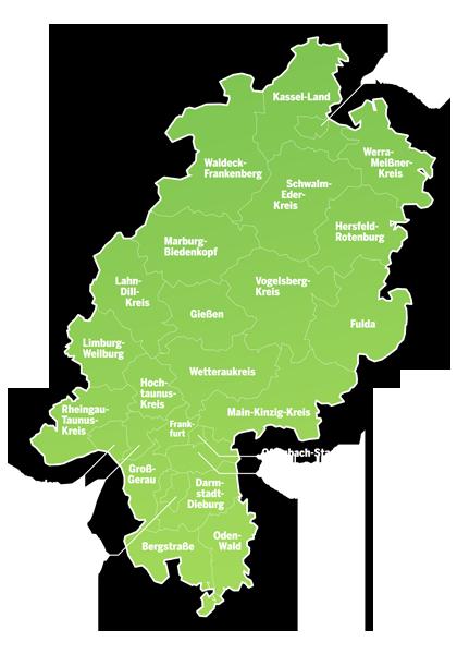 Landkreise in Hessen