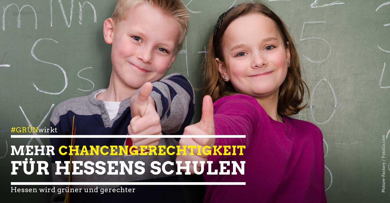 Mehr Chancengerechtigkeit für Hessens Schulen