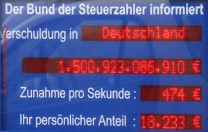 Schuldenuhr 470 Deutschland