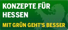 Banner: Konzepte für Hessen: Mit GRÜN geht's besser