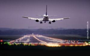 Landebahn, Flugzeug, Flughafen