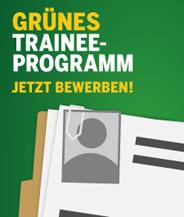GRÜNES Trainee-Program - bis zum 22. Januar bewerben