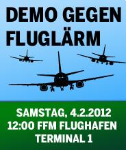 Demo gegen Fluglärm - Samstag, 4.2.2012 - FFM Flughafen - Terminal 1
