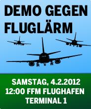 Demo gegen Fluglärm - Samstag, 4.2.2012, FFM Flughafen - Terminal 1