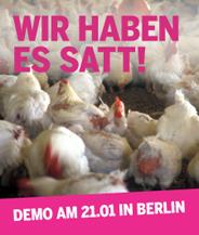 Wir haben es satt - Demo am 21. Januar in Berlin