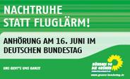 Nachtruhe statt Fluglärm - Anhörung im Deutschen Bundestag
