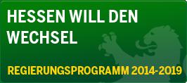 Hessen will den Wechsel - Das GRÜNE Regierungsprogramm 2014-2019