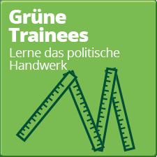 GRÜNE Trainees - Lerne das politische Handwerk