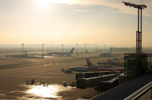 Hintergrundbild Frankfurter Flughafen