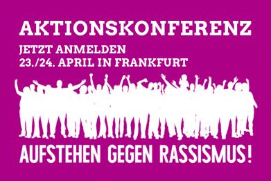 Banner Aufstehen gegen Rassismus