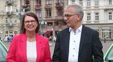 Wahlkampf Tourstart - Priska Hinz und Tarek Al-Wazir