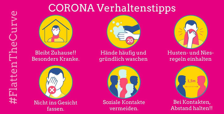Corona Verhaltenstipps
