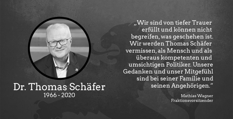 Dr. Thomas Schäfer 1966 - 2020