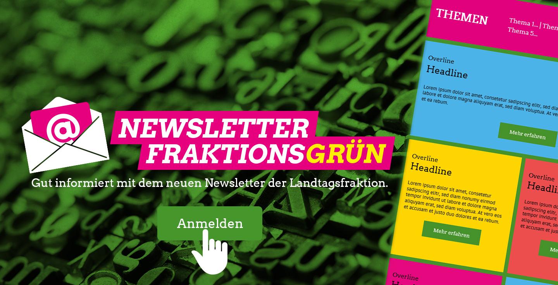 Newsletter FraktionsGRÜN - jetzt anmelden